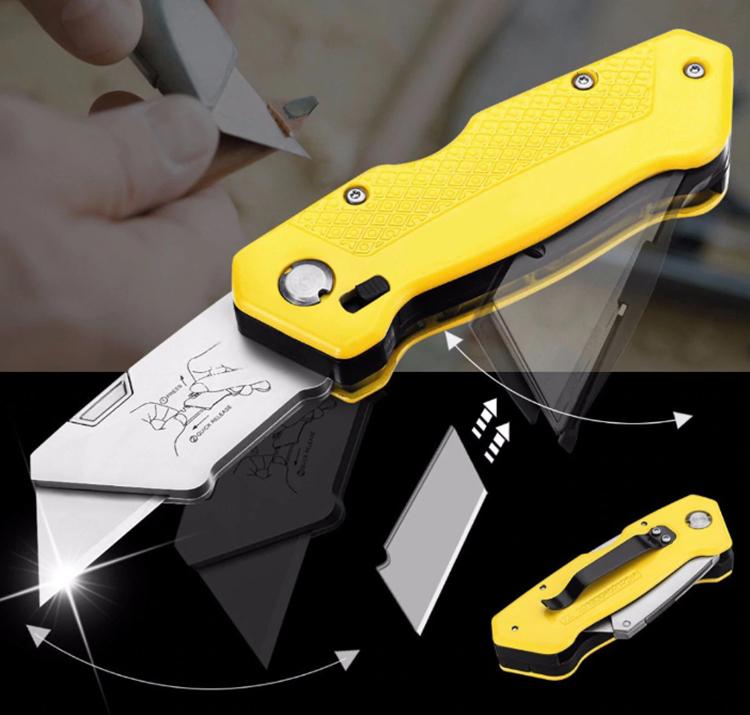 Нож идеален для работы, имеет складную конструкциюФОТО: ru.aliexpress.com