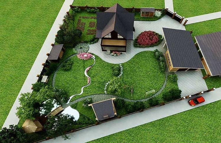 Например, если участок небольшой, то от садово-огородной зоны можно вовсе отказаться в пользу места отдыха и хозпостроекФОТО: lanshaft.com