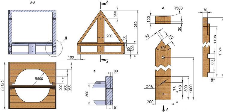 Для удобства изготовления сначала составляется схема ФОТО: stroychik.ru