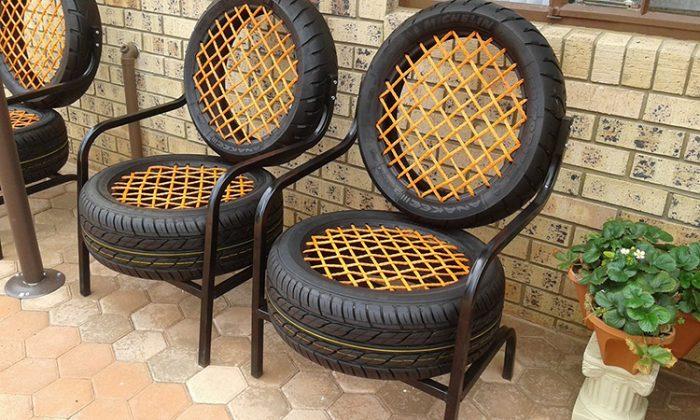 Шины могут стать основой для изготовления садовой мебелиФОТО: i.pinimg.com