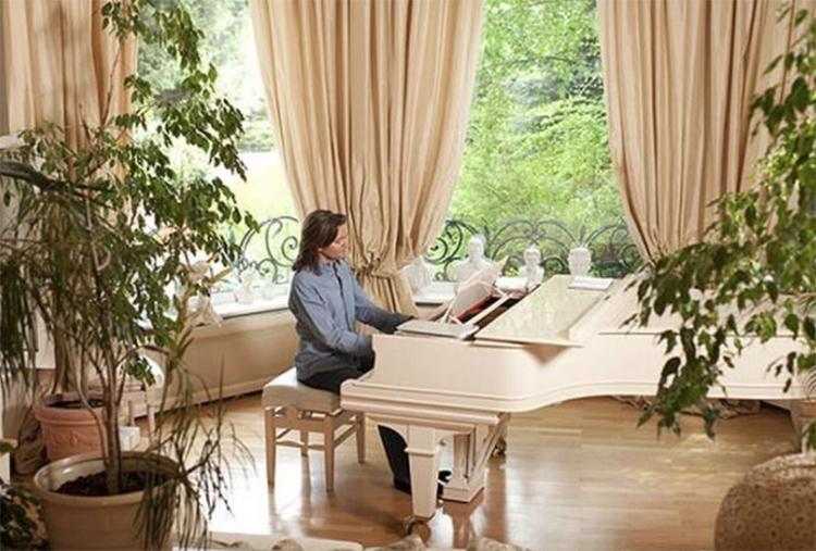 В гостиной устроен настоящий зимний сад из растений в огромных кадкахФОТО: domzamkad.ru