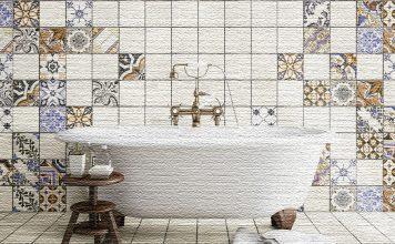 Уютная ванная в стиле пэчворк: готовое решение от Леруа Мерлен