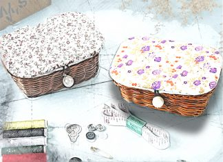 Красиво и удобно: корзинка для рукоделия своими руками