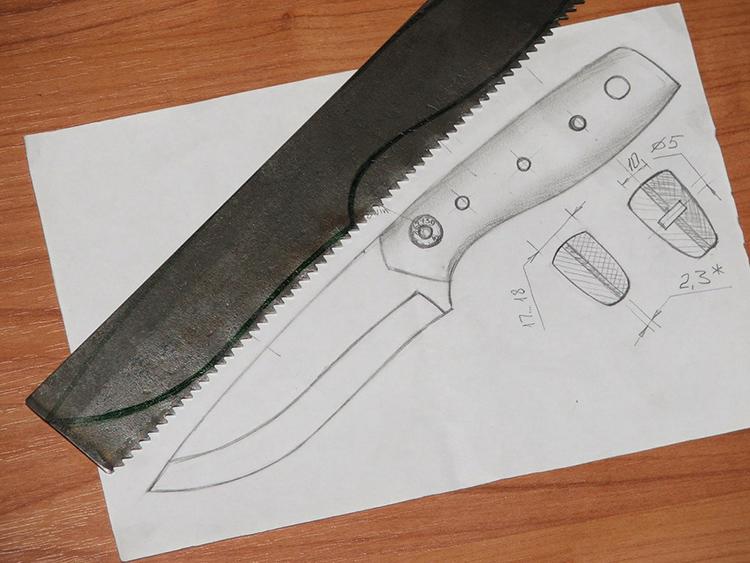 Создание эскиза и чертежа – один из главных этапов изготовления ножаФОТО: popgun.ru