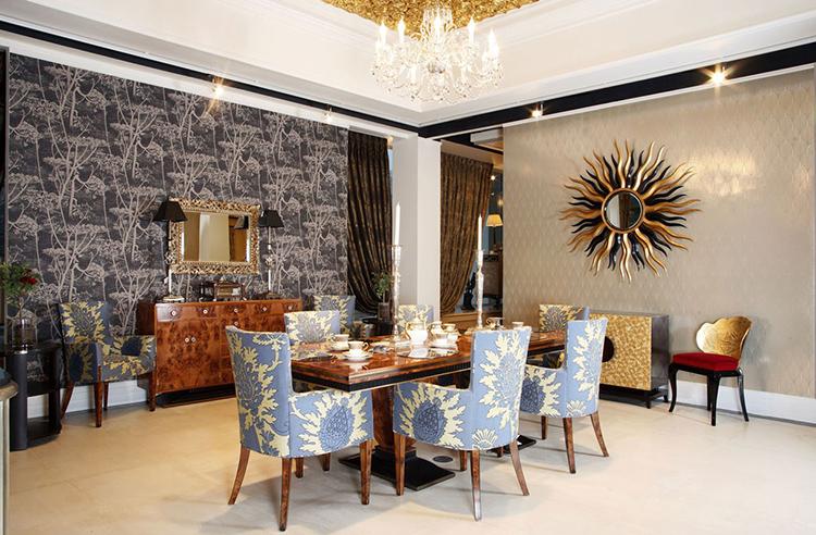 Стены в одном помещении могут быть отделаны разными материаламиФОТО: artion-diz.ru