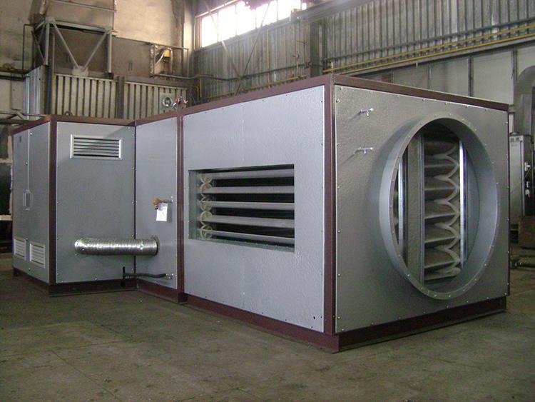 Чем больше площадь, тем мощнее теплогенератор для воздушного отопления частного домаФОТО: gorelki-teplogeneratory.ru