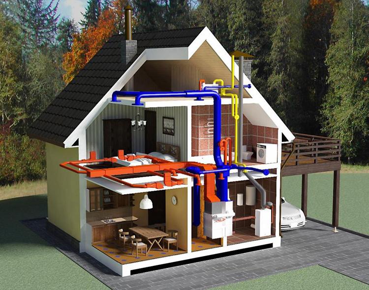 Высокий КПД – важное достоинство воздушного отопления частного домаФОТО: yarta.com.ua