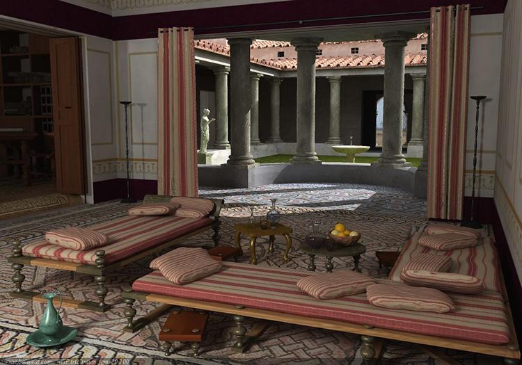 Кушетки были популярны среди аристократов Древней Греции и РимаФОТО: i.pinimg.com