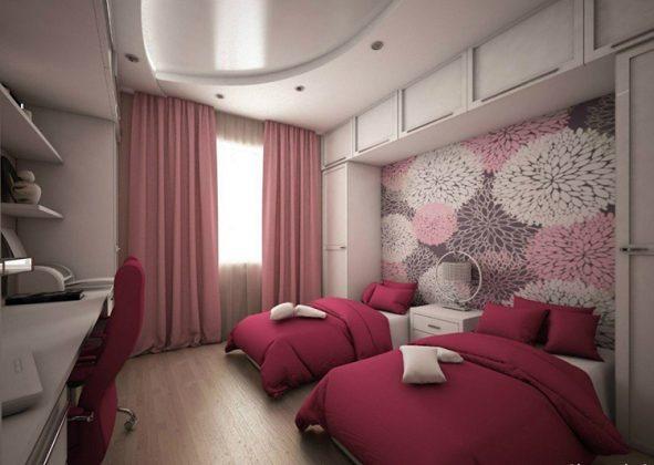 Спальня в спокойных тонах для двух девочекФОТО:itd0.mycdn.me