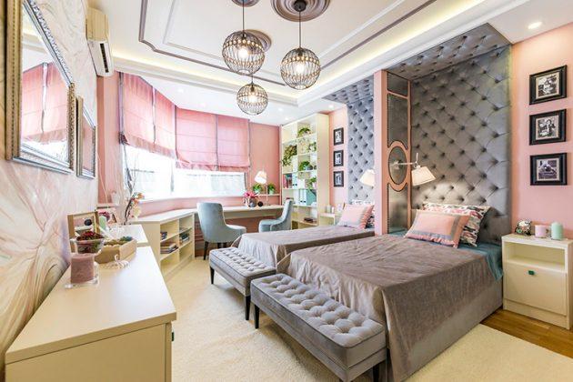 Роскошная спальня для двух девочекФОТО:images.homify.com