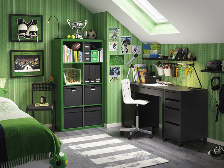 Интерьер в зелёных тонахФОТО:i.pinimg.com