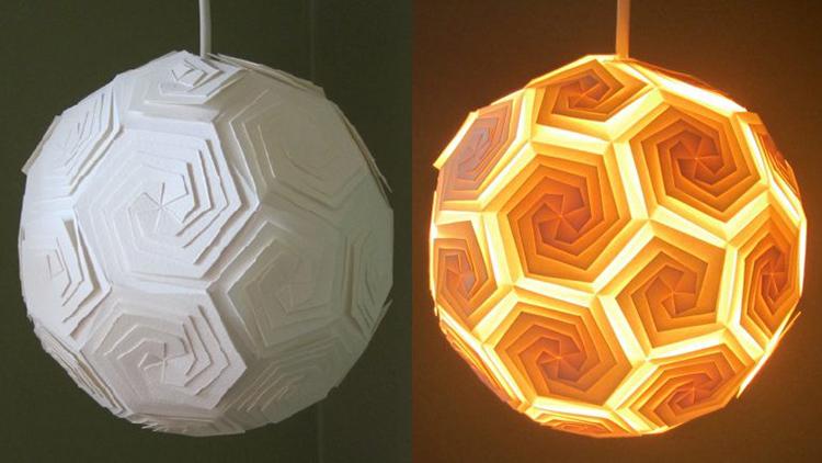 Техника оригами отлично подходит для создания чехлов для светильниковФОТО: opple-only.ru