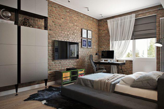 Комната для подростка в стиле лофтФОТО:comfortoria.ru