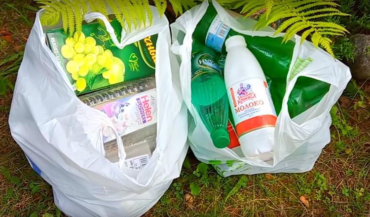 Для основания скамьи Надежде потребовались пустые пластиковые бутылки. Как она сама призналась, в ход пошёл не только собственный мусор, но и бутылки, которые нерадивые соседи перебросили на её участок после очередной вечеринки