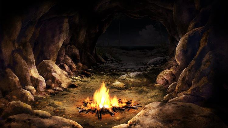 Светильник начал свою историю от очага в пещере первобытного человека ФОТО: i.pinimg.com