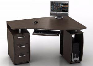 Угловой компьютерный стол КС-12У Ибис, производство «НАЯ»