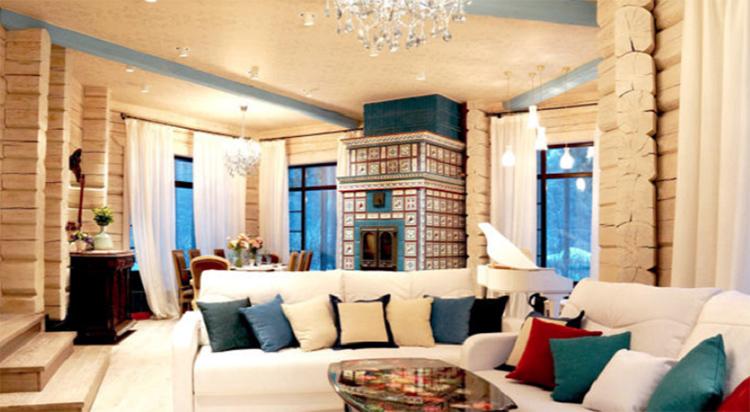 Печь в гостиной выступает как арт-объектФОТО: mpdesign.ru