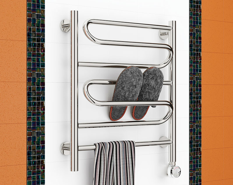 Полотенцесушитель несёт не только функциональную, но и декоративную функцию в интерьере вашего жилья