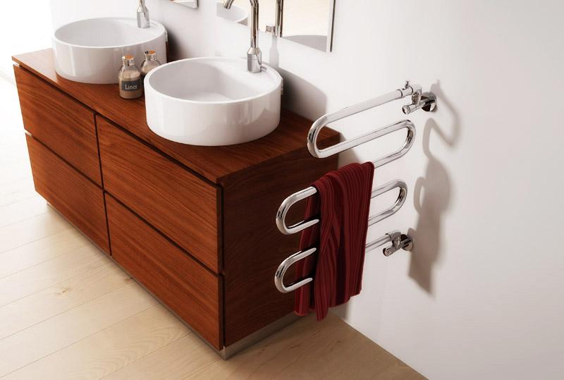 Подвижная модификация позволяет просушивать полотенца во всех направлениях