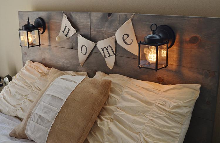 Изголовье кровати, это первое, что притягивает взгляд в спальне