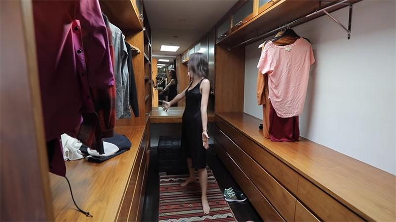 Гардеробная в американских домах имеет размеры небольшой жилой комнаты