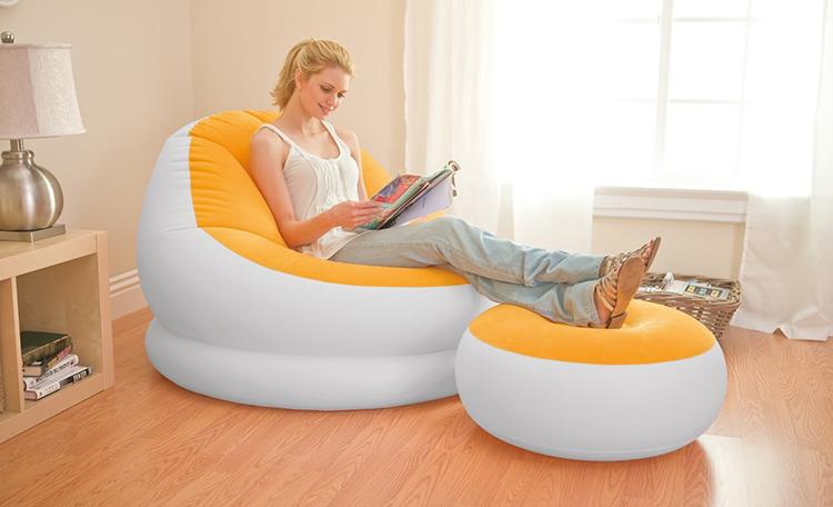 Основным преимуществом надувного кресла является его компактность в сложенном виде
