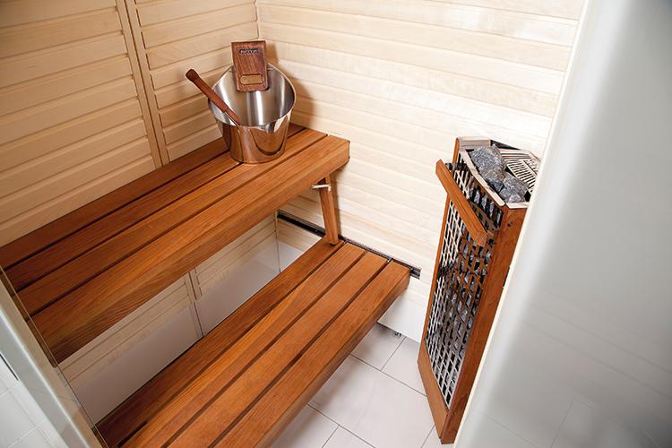 Установка электрической печи превращает стандартную ванную в финскую баню