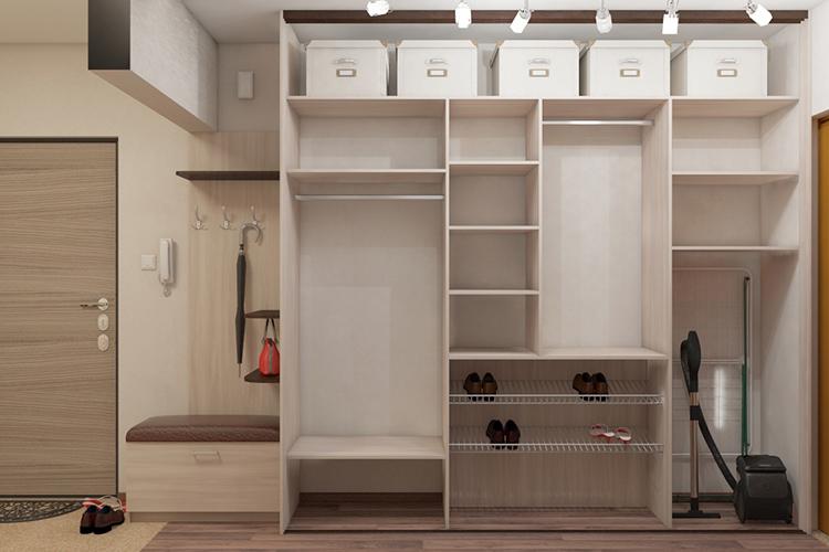 Наполнение шкафа-купе во многом зависит от места его установки в квартире