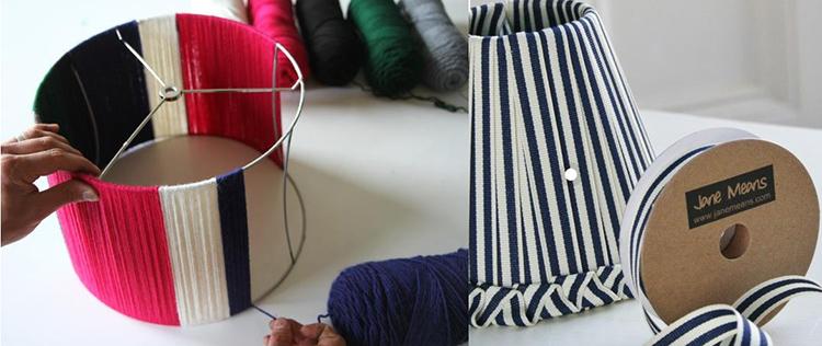 Декорирование абажура текстилем