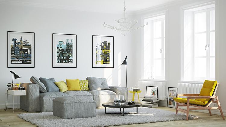 Скандинавский стиль мебели лаконичен и функционален