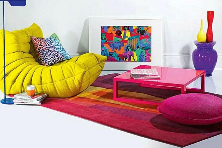 Стиль авангард отрицает традиционные сочетания цветов и форм в интерьере и дизайне мебели