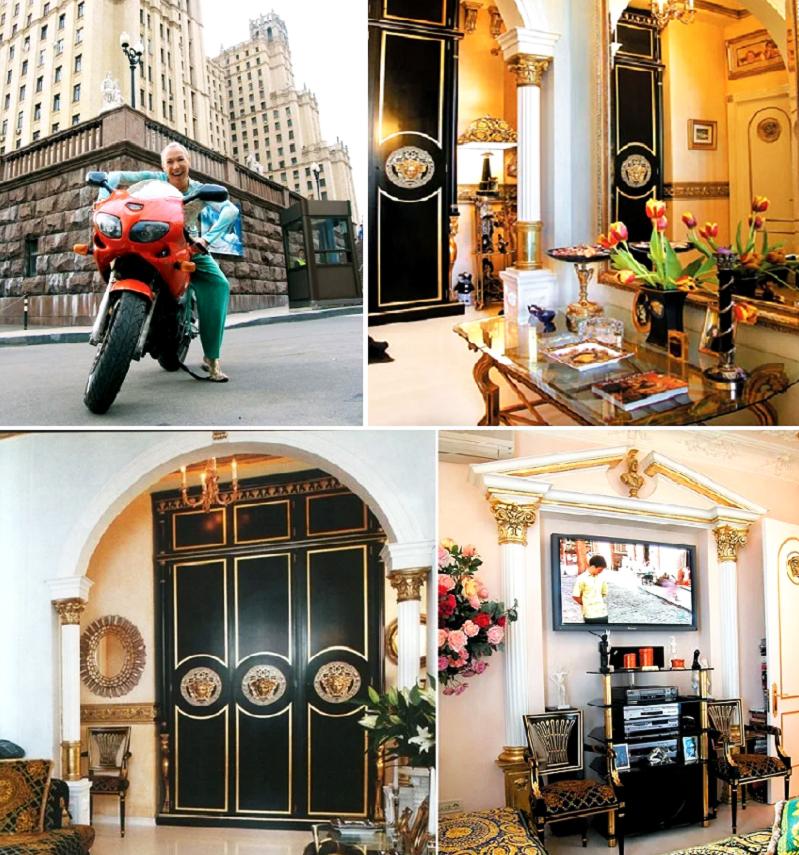 Колонны украшают дверной проём и зону телевизора в гостиной
