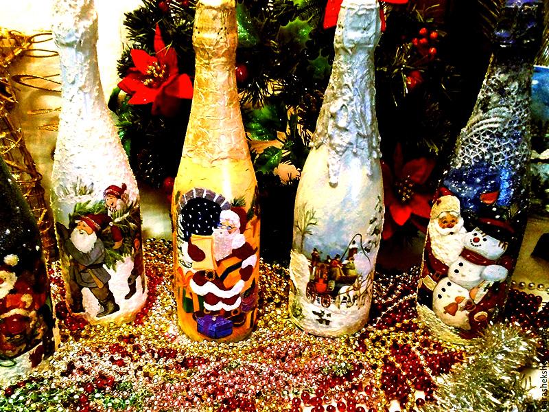 украшение новогодних бутылок шампанского фото считается единственной