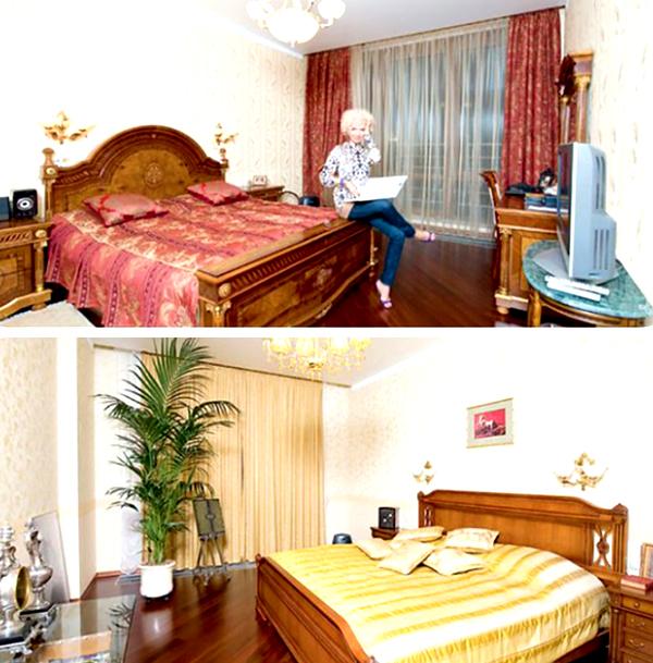 Спальни отличаются цветовой гаммой