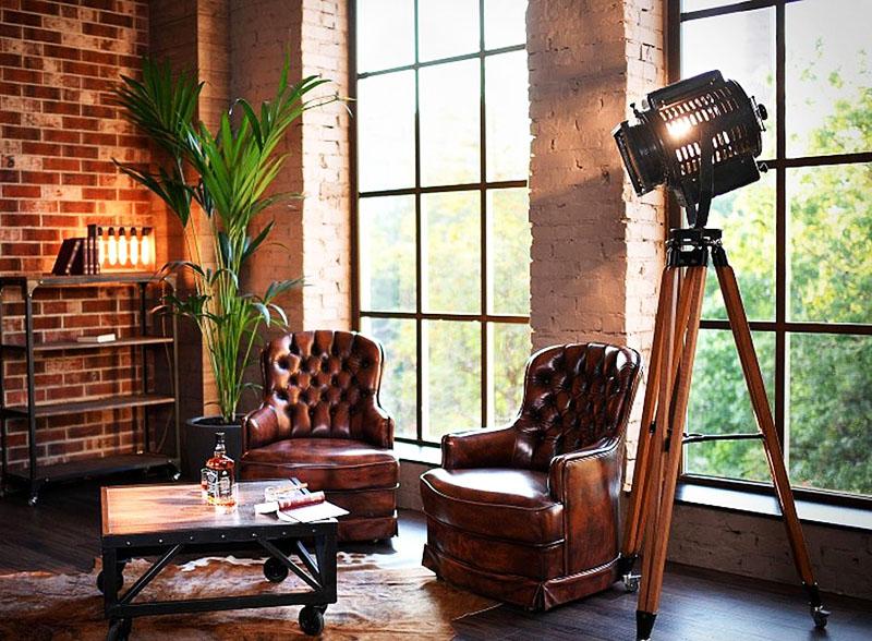 Сочетание разных видов мебели может быть гармоничным