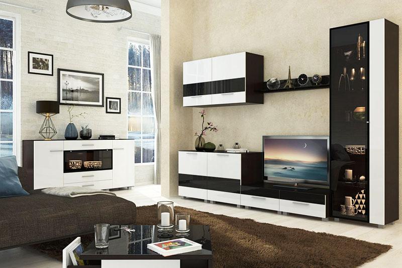 Модульные гарнитуры для гостиных разнообразны
