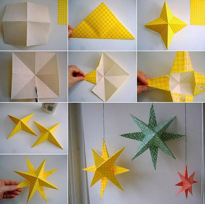 Гирлянду из бумаги можно надеть на настоящую с диодами