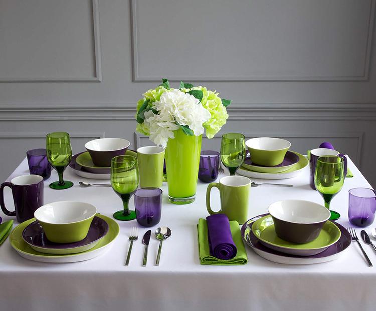 Нежные и контрастные оттенки посуды украсят любой интерьер
