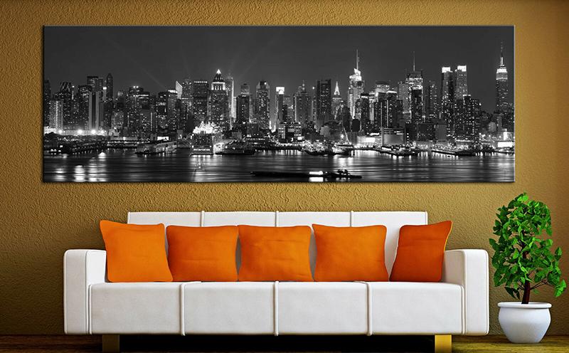 Изображение ночного города есть во многих интерьерах