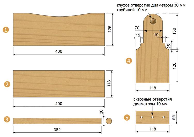 Схема деревянного ящика для инструментов