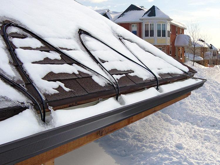 Главный элемент – обогревающий электропровод, размещаемый по местам возможного формирования льда