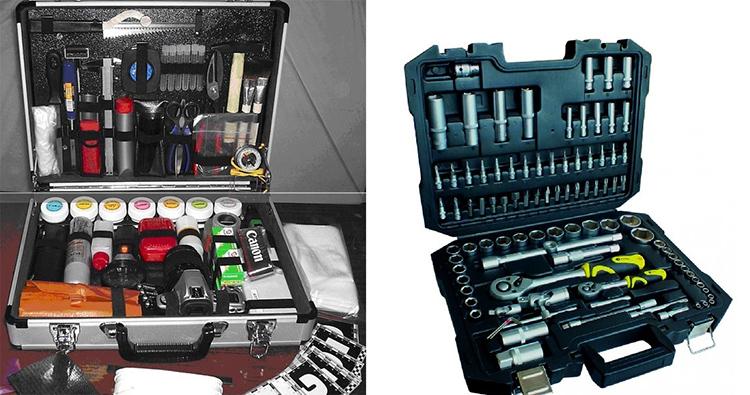 Большинство готовых наборов инструментов реализуются в специальных кейсах