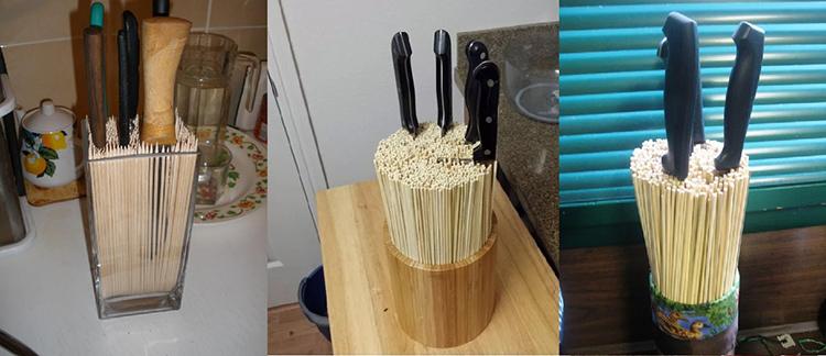 Заполнять ёмкости бамбуковыми палочками следует не очень плотно