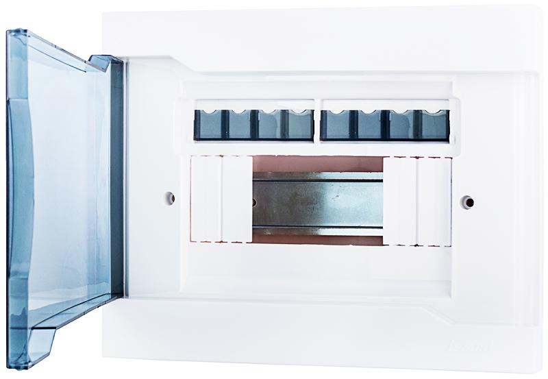 ДИН-рейка для автоматов внутри очень хорошо видна