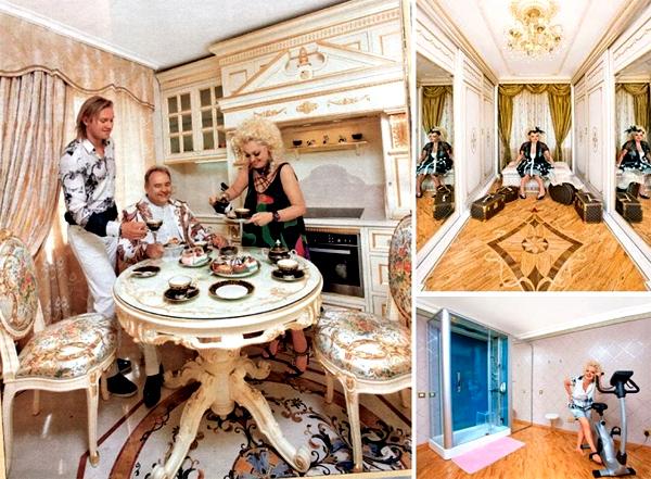 Обеденный стол украшен витиеватой резьбой
