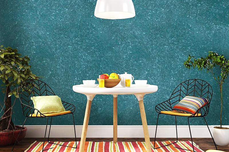 При помощи флока можно создать красивое и оригинальное покрытие для стен