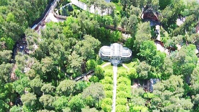 Резиденция окружена вековыми деревьями