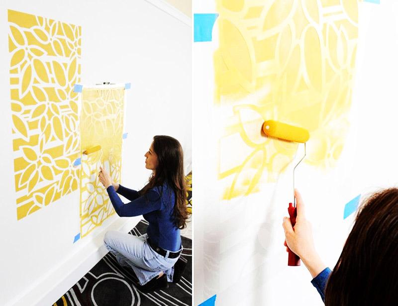 Декоративная краска для стен - как использовать, особенности нанесения