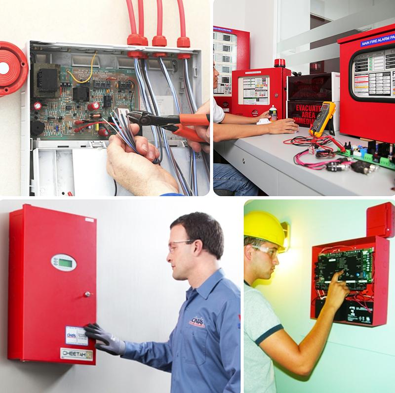 Монтаж ПКП охранно-пожарной сигнализации