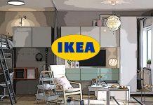 Обстановка однокомнатной квартиры 38 м² от ИКЕА: